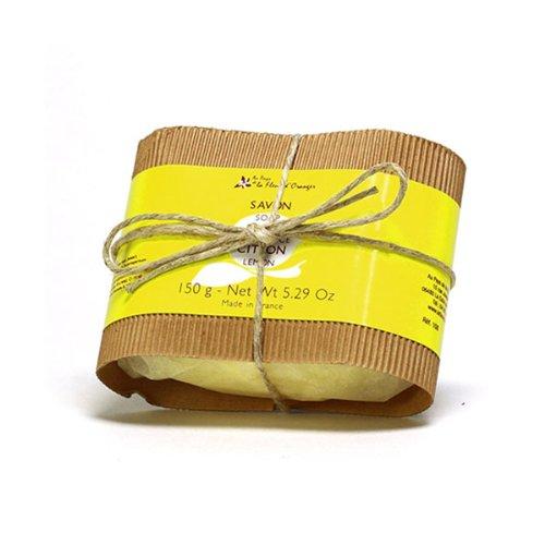 Savon fleur emballage kraft citron 150g