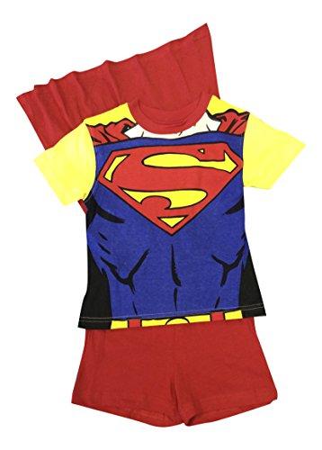 Sam pompiere, ragazzi 100% cotone pigiama corti 2 colori, Giallo, Tre
