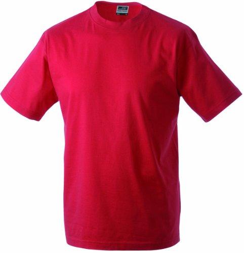 James & Nicholson Herren Komfort T-Shirt Rundhals Rot (Red)