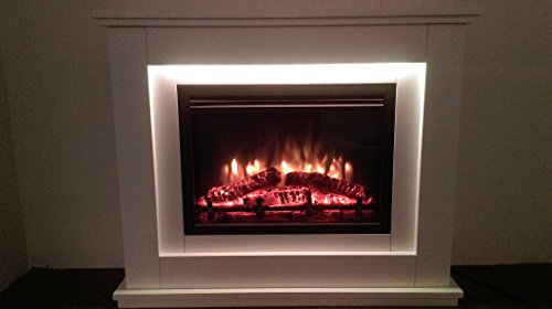 Castleton Electric Fireplace Suite Glass Fronted Electric
