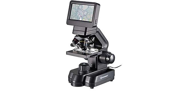 HDMI porta SD Bresser 5201020 Biolux Touch Microscopio LCD 5 MP per scuola e hobby con tavolo a croce meccanico USB 5201020