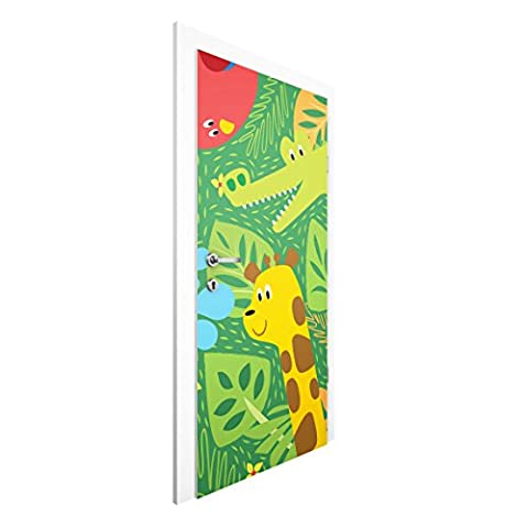 Vliestapete Tür Premium - No.BP4 Zootiere - Türtapete , Größe HxB: 215cm x 96cm