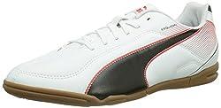 Puma Mens Esquadra IT White, Black and High Risk Red Boat Shoes - 7 UK/India (40.5 EU)