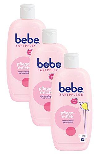 bebe Zartpflege Pflegemilch / Zarte Körpermilch für Kinder / Sanfte Körperpflege mit angenehmen Duft / 3 x 300ml