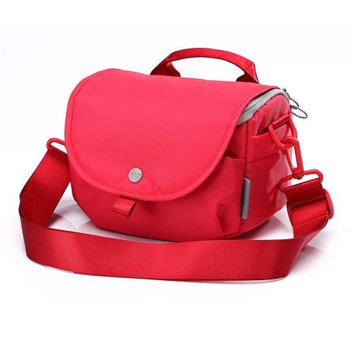 Canon Für T5 Rebel Kameratasche (Neppt Kamera Tasche für Frauen Cute, Neppt Wasserdicht DSLR Kamera Tasche Sling Tasche für Sony A6000Canon EOS Rebel T5/SL1(100D)/450D (S, Rose rot))