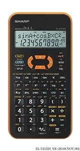 EL-531 XH-YR, wissenschaftlicher Schulrechner, 2-zeilig, Farbe orange, SEK I&II, 272 Funktionen, Batterie