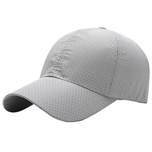 UKERDO Baseball Caps Einstellbar Tailliert Laufen Sport Schnell Trocknend Sonne Kappen Mützen Herren (D)