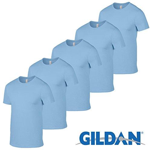 e T-shirt 5-Pack, Light Blue, L ()