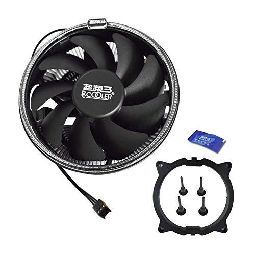 Newgreenca Pccooler 12cm LED Blende CPU-Lüfter 3-Pin PWM Silent-Kühler Cooler