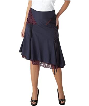 Joe Browns Women's Divine Devore Panel Skirt Indigo (8)