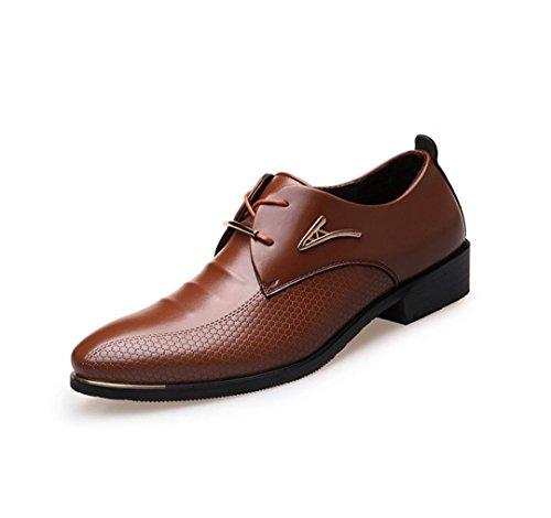 NSPX I pattini di vestito da banchetto dei pattini di cerimonia nuziale dei pattini del merletto delle nuove scarpe da tennis dei vestiti di affari degli uomini , 45 BROWN-37