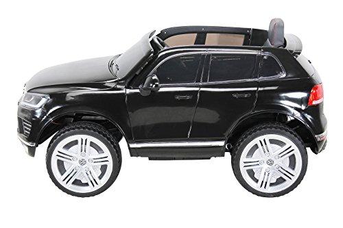 RC Auto kaufen Kinderauto Bild 3: Actionbikes Motors Kinder Elektroauto VW Touareg Kinderfahrzeug Kinder Auto Ledersitz Eva Reifen (Schwarz)*