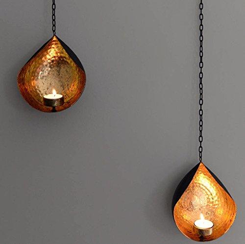 CraftVatika - Portavelas de hierro para colgar en pared, soporte para velas...