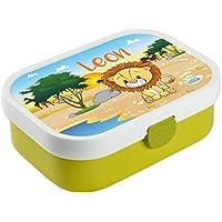 Mein Zwergenland Brotdose Mepal Campus mit Bento Box und Gabel mit eigenem Namen Löwe (lime) preisvergleich bei kinderzimmerdekopreise.eu