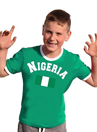Nigeria Nigerien T-Shirt Kinder Ringer green, 128