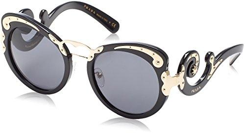 Prada Damen 0PR07TS 1AB1A1 54 Sonnenbrille, Schwarz (Black/Gray),