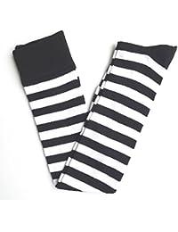 Shropshire Supplies Ladies Over The Knee Thigh Length Socks Long Socks Stripey Striped Socks
