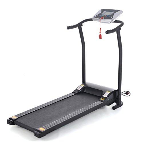 Ncient Fitness Laufband Mini Klappbar Basic Laufband Heimtrainer mit LCD Bildschirm, Pulsmessung für zu Hause oder im Büro, 125 x 59,9 x 107 CM