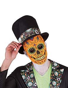 Rubies- Mascara calavera de lujo para hombre, Talla única (Rubie