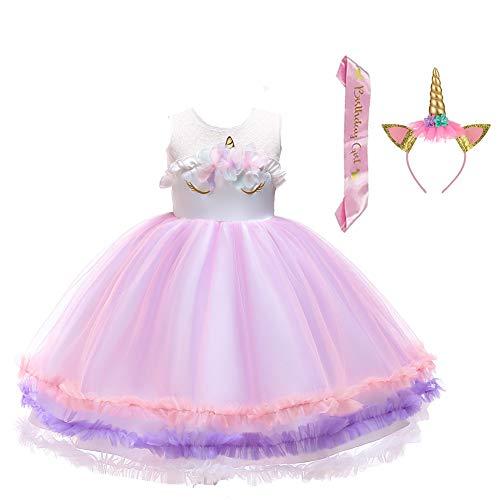 Engel Kostüme 2 3 Jahre - LZH Mädchen Blume Einhorn Kleid
