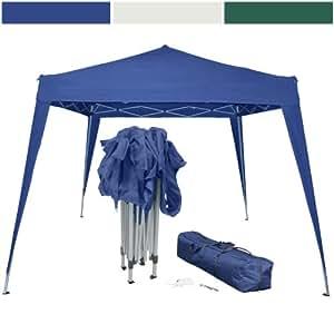 Miadomodo Gazebo pieghevole tenda giardino 3 x 3 (blu) con borsa per il trasporto