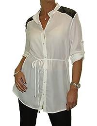 ICE (4093 Blusa de la Camisa de la Gasa 36-44