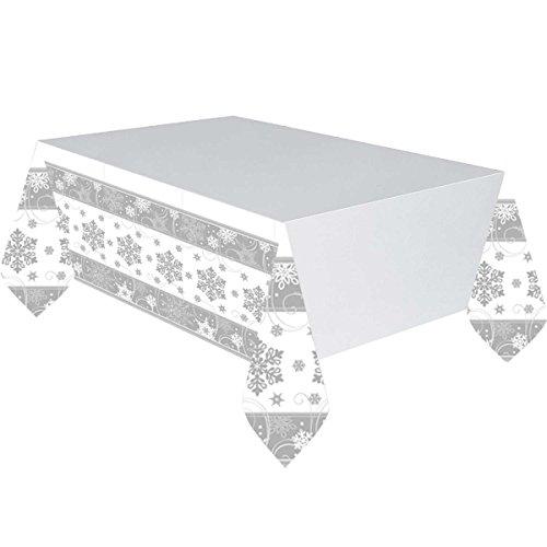 Amscan Sparkling Schneeflocke Kunststoff Party Tischdecke
