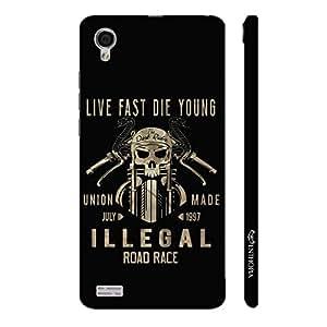 Enthopia Designer Hardshell Case Live Fast Die Young Back Cover for Vivo Y31L