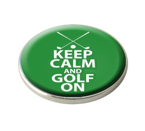 KEEP CALM AND GOLF MARQUEUR DE BALLE DE GOLF.