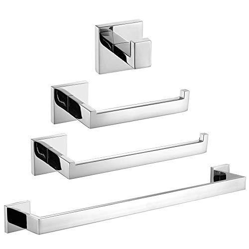 Turs 4 pezzi bagno accessorio impostare sus 304 acciaio inox supporto di carta igienica portasciugamani accappatoio anello asciugamano montaggio a parete, finitura spazzolata, q7p-4pcs