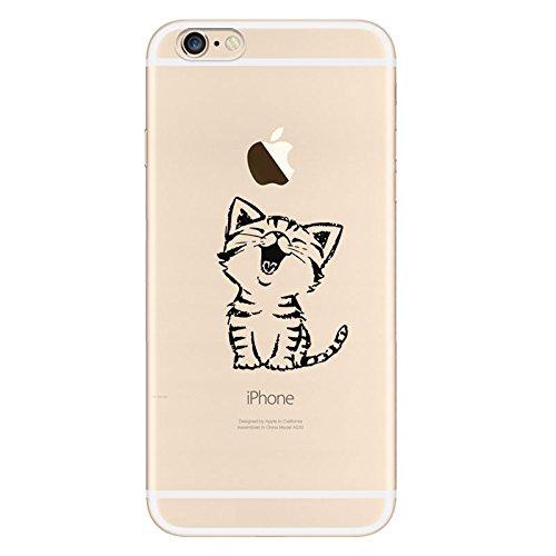 iPhone 66S Housse Coque de protection en silicone TPU souple Ultra adünnen Case pour iPhone 66S Coque Nette Katze