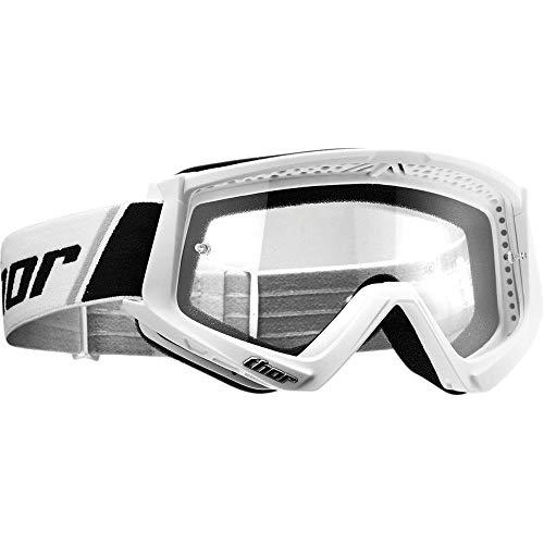 Thor Combat Motocross Kinder Brille Spring 2019 weiss schwarz klare Scheibe