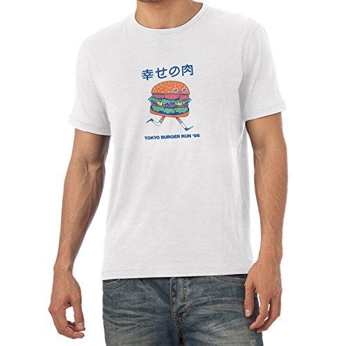 Burger Weißes T-shirt (Texlab Tokyo Burger Run '86 - Herren T-Shirt, Weiß, L)