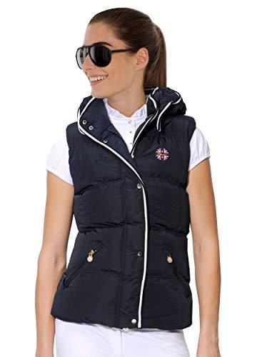 SPOOKS Damen Weste leichte Damenweste Steppweste - Snoop Hood Navy XL