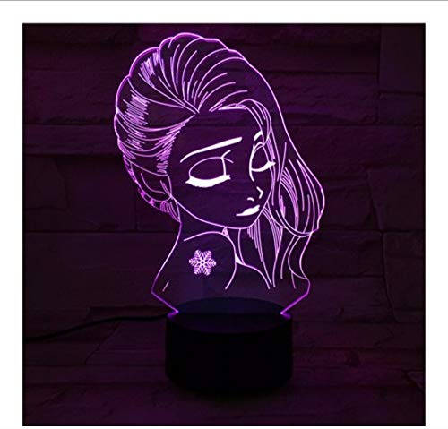 Lyqyzw Acryl Panel Schöne Mädchen Prinzessin 3D Lava Lampe Weihnachten 7 Farbwechsel Led Nachtlicht Stimmung Dekor Schlafzimmer Tisch Lampe Fernbedienung Und Touch