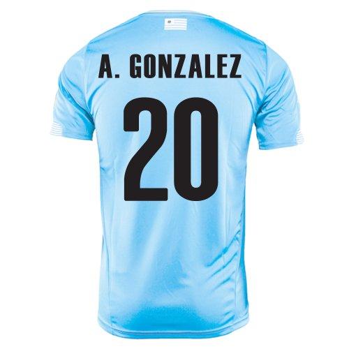 Gonzalez Jersey (Puma A.Gonzalez # 20 Uruguay Home Jersey (2XL))