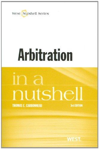 Arbitration in a Nutshell (Nutshell Series)
