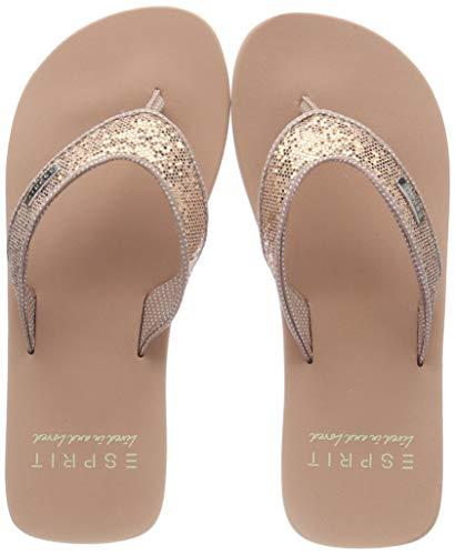 ESPRIT Mädchen Glitter Thongs Pantoletten, Beige (Nude 685), 31 EU - Beige Thong