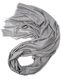 Prettystern - écharpe oversize Pashmina 100 fil frange courte particulièrement fines et douces - beaucoup de couleurs