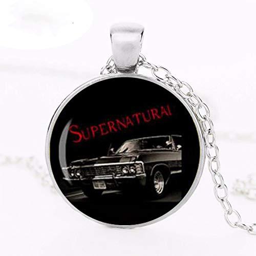 Supernatural Impala Supernatural The Road so Far Dean Winchester Car Sam Halskette Glas Cabochon Halskette
