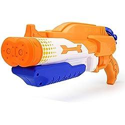 Genossen Pistolets et fusils à Eau Jeux d'eau et de Plage Pistolet a Eau Grande Capacité Longue Distance pour Enfants et Adultes Jeux Plein Air Couleur Aléatoire
