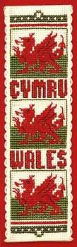 Textile Heritage Collection Cross Stitch Bookmark Kit - Welsh