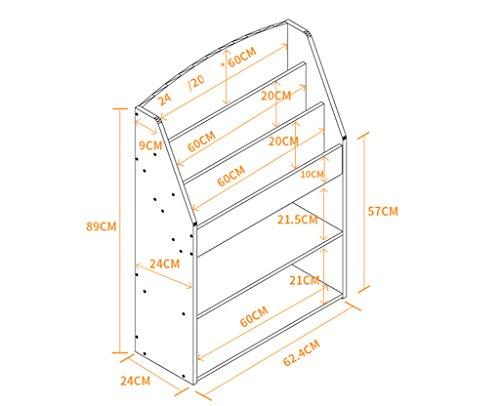 DFHHG® Librería Libro Stand 62.4 (largo) * 24 (anchura) * 89 (alto) Dormitorio Dormitorio Librería Salón Estante Creativo Cortado Rosa Azul durable ( Color : #2 )