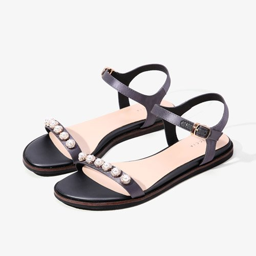 Sommer Damen Mode Sandalen komfortable High Heels, 39 schwarz Grey