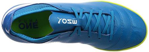 Puma Herren One 17.4 It Fußballschuhe Blau (atomico Blu-bianco-giallo Di Sicurezza)