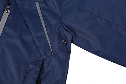 ZSHOW Herren leichte Wanderjacke mit Kapuze Wasserdichte Sportbekleidung Windbreaker Marine