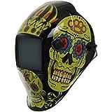 """XW """"día de Muertos"""" oscurecimiento automático máscara de soldadura tonos 9-13 + función de molienda"""