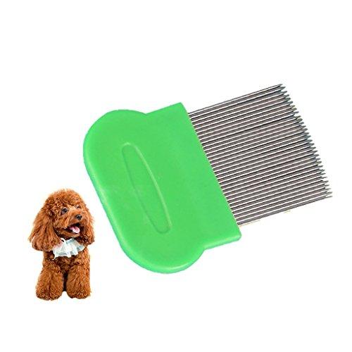 Milopon Flohkamm Staubkamm Läusekamm Nissenkamm für Hunde und Katze Kopf Pelz Läuse Behandlung & Entfernen Floh Zufällige Farbe