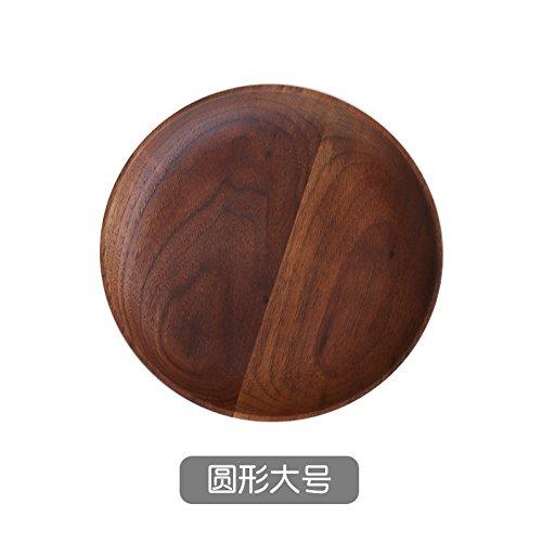 YUWANW Japanischen Stil Aus Massivem Holz Holz Fach Fruit Cake Pan Black Walnut Dessert Fach Frühstück Tablett Holz- Gerichte, Um Große