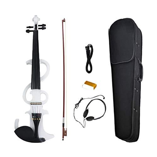 Almencla Professionale 4/4 Di Formato Silenzioso/Elettrico Violino Violino Bianco Con Borsa Portatile Orchestra Concerto Stage Performance Accessorio
